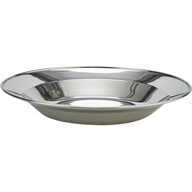CAMPZ Stainless Steel Plate Flat 24cm silber